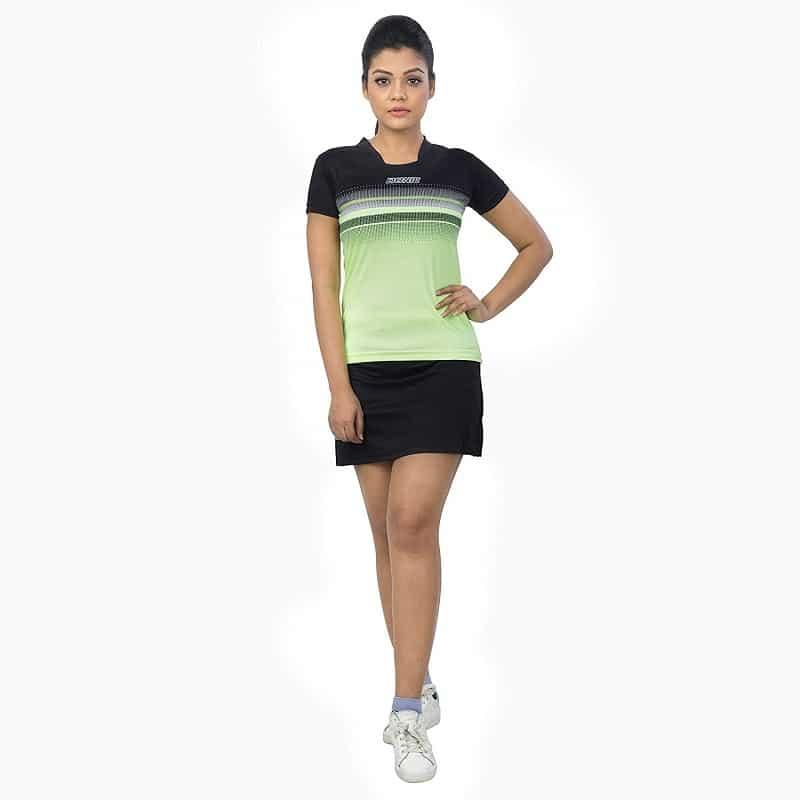Buy Donic Draft Womens T Shirts Table Tennis Black Neon Green